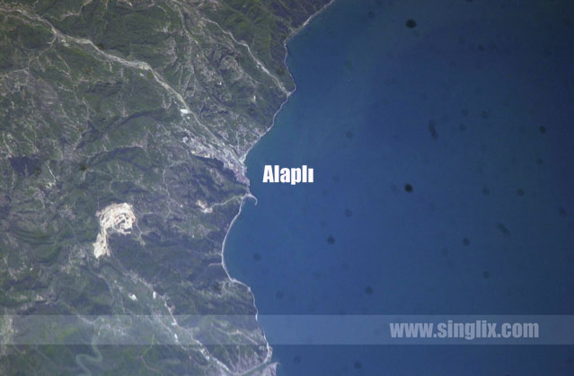 View to ALAPLI from space
